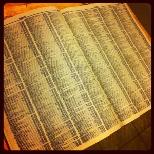 The phone book: not a well-defined target customer list.